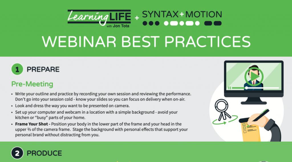 Webinar Best Practices Learning Life
